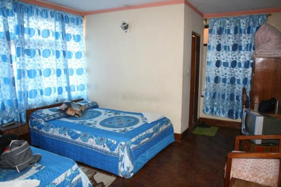 Hotel Tashi Dhele: Large double room with extra bed