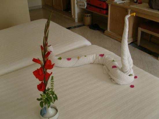 Iberotel Palace : lit décoré chaque jour