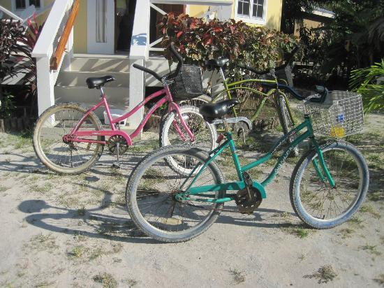 Cocotal Inn & Cabanas: some of the many bikes for use