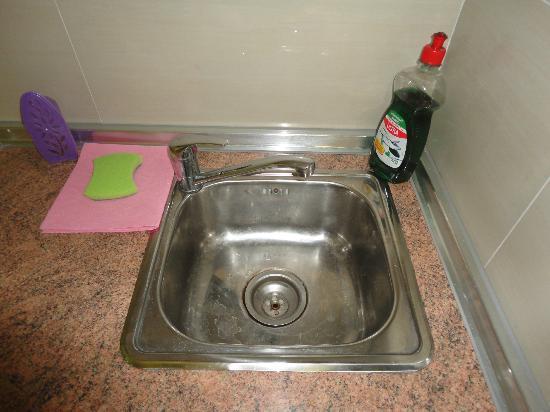 Hotel Ramon y Cajal: Fregador de la cocina