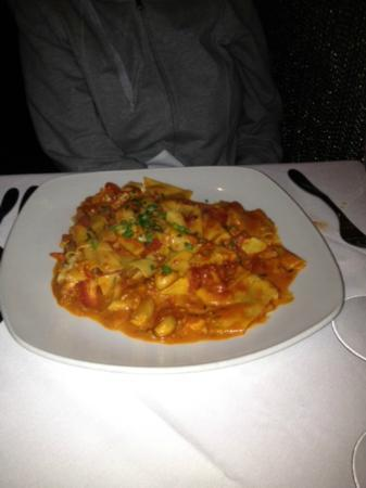 Tredici Steak: pasta with artichoke & lobster tomato sauce