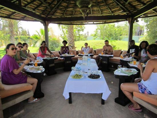 Villa Malika Silvana : petit dejeuner