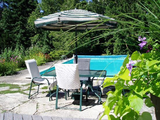 Millhollow Bed & Breakfast: Enjoy our garden and pool