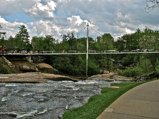 Greenville, SC: Bridge over the falls