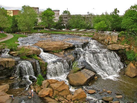 Greenville, SC: The falls