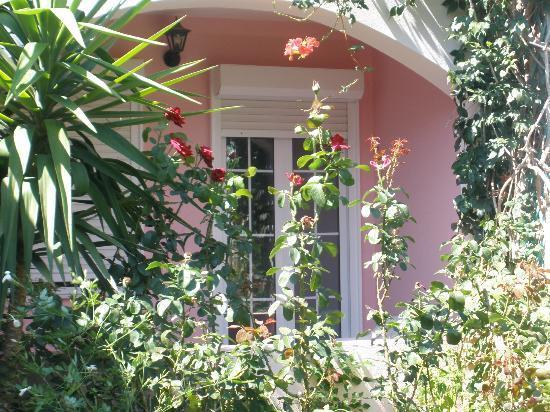 Livadi Apartments: view to the garden