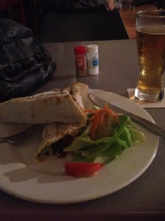 The Brewery Bar & Restaurant: Vegetarian felafel wrap.