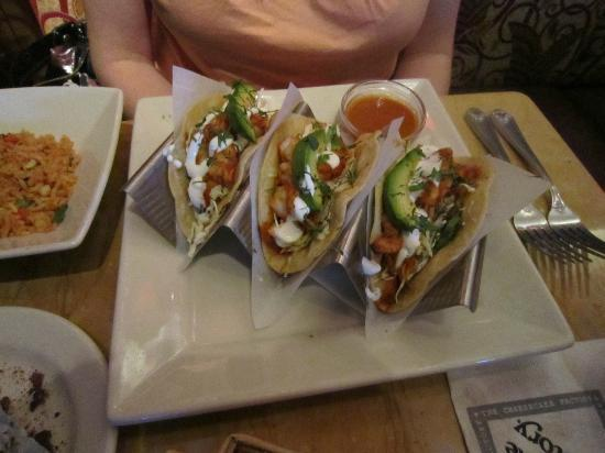 The Cheesecake Factory: shrimp tacos