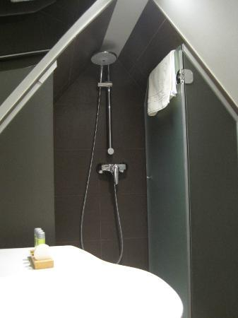 douche dans les combles photo de hotel gutenberg strasbourg tripadvisor. Black Bedroom Furniture Sets. Home Design Ideas