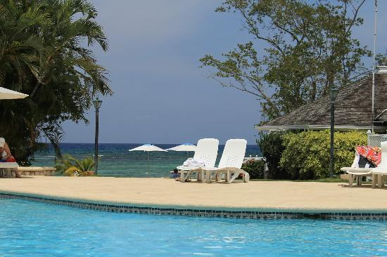 Couples Sans Souci: view of beach from pool