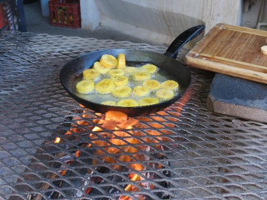 Plaza Copal Restaurant And Tourist Information : Open fire grill
