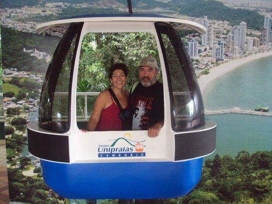 Parque Unipraias Camboriu : foto en la cima del teleferico