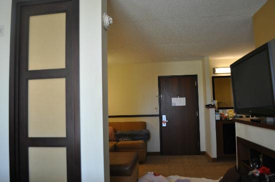 Hyatt Place Mystic: Room divider is cool