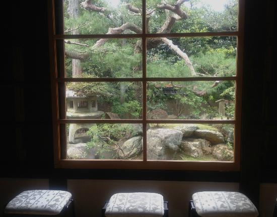 Shunkoin Temple Guest House: View from meditation room