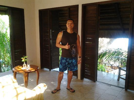 Tuko Beach Resort: Me with the thumbs up sign