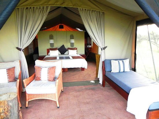 Naboisho Camp, Asilia Africa: Interior of tent