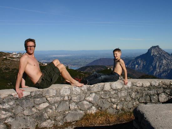 Berggasthof Edelweiss: Aussicht Helmesgupf