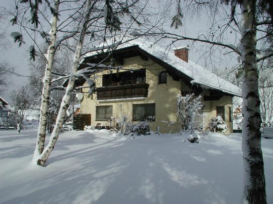 Ferienwohnungen Troost: Back garden in Winter