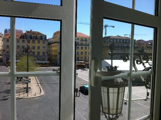Pensao Praca da Figueira: la splendida vista della piazza