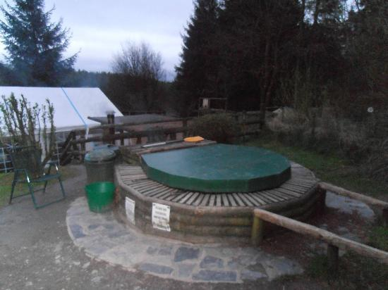Marthrown of Mabie: covered hot tub