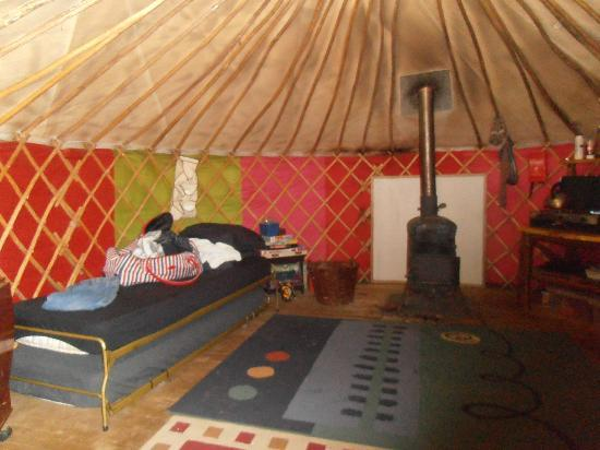 Marthrown of Mabie: inside yurt