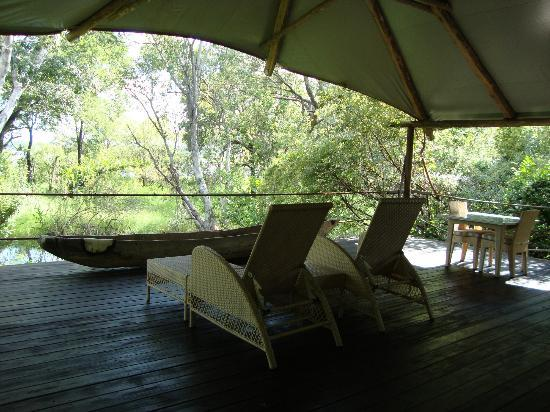 Wilderness Safaris Toka Leya Camp: room's deck