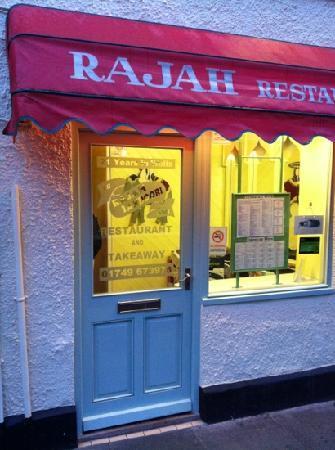 Rajah Restaurant: front entrance to restaurant