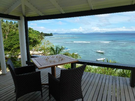 Taveuni Island Resort & Spa: View from lower sitting area