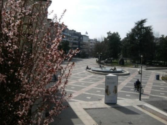 Terme Milano Hotel: vista sulla piazza