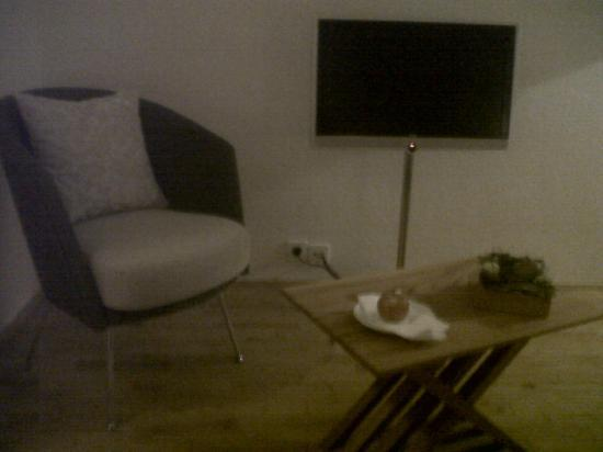 Alte Post: Seating area and Loewe TV