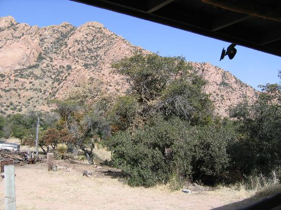 Cochise Stronghold, A Nature Retreat: View from cookshack porch