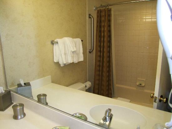 The Carriage House : Baño totalmente equipado , jabones y doble de toallas en el armario. Toallas limpisimas.