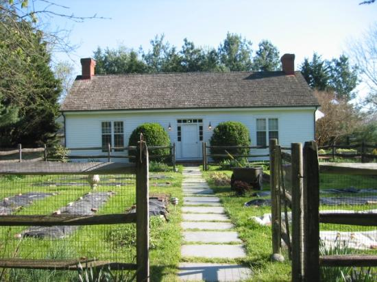 "Brampton Bed and Breakfast Inn: The Garden Cottage - ""Sunrise"" on left of front door, ""Sunset"" on right"