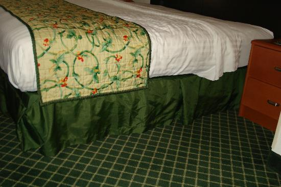 Fairfield Inn & Suites Victoria: side of the bed and the carpet