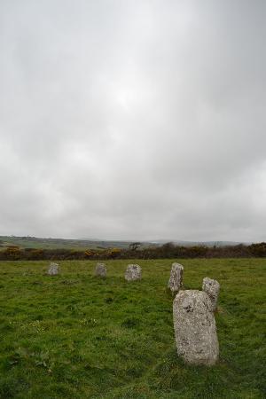 Trelew Farm : Merry Maidens stone circle