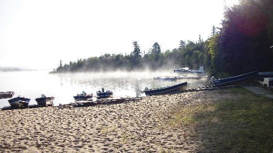 Camp Anjigami: The morning fog lifted to reveal another beautiful day.