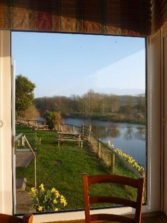 The Boat Inn: view from the dining room over the wye