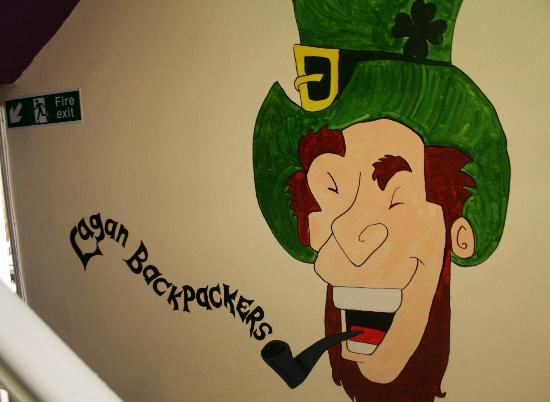 Lagan Backpackers Mural in Hallway