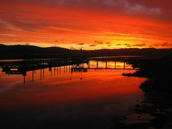 Knysna River Club: Sunset at it's best!