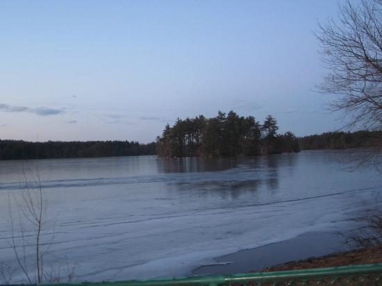 Residence Inn Boston Tewksbury/Andover: haggerty pond apprx 1/2 mile from hotel great for walks and runs