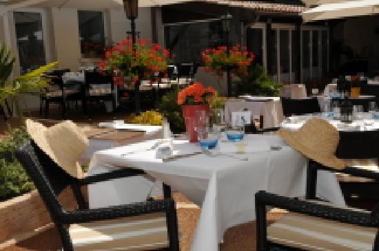 Hôtel-restaurant La Rose : Terrasse de la Rose