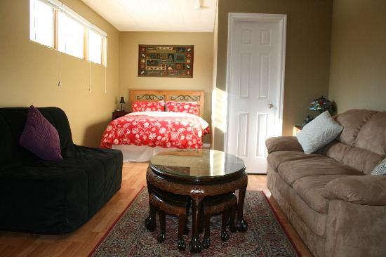 Elkview Accommodation: Living area viewed from Kitchen area. Suite 1