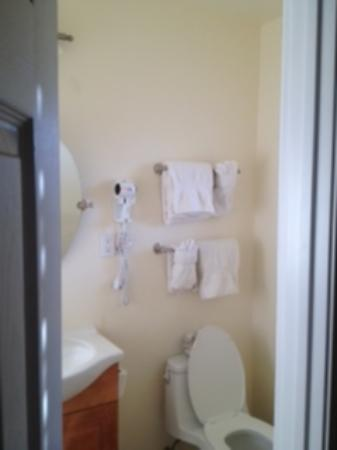 Bella Capri Inn & Suites: Super small bath...no counter space