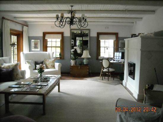Franschhoek Manor : common sitting room/lounge