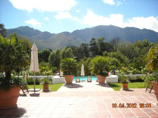 Franschhoek Manor: garden/pool