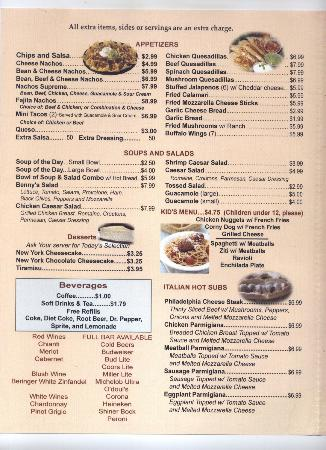 Benny Joe S Italian Restaurant Alvarado Tx