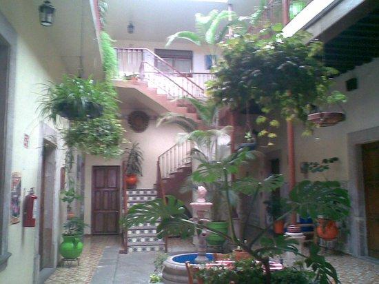 Hotel D'Atilanos : es el patio del hote