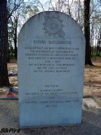 Buford Battleground: Buford Massacre Battleground 1780