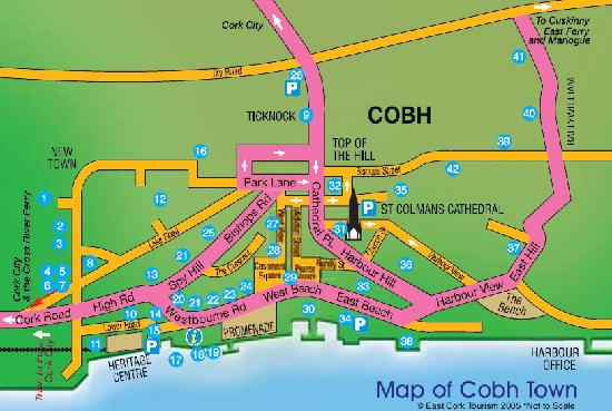 Ardeen B&B: Map of Cobh - 3 Harbour Hill