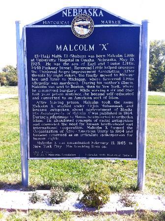 Malcolm X Birthsite : historic marker